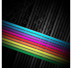 Rainbow colorful advertisement vector image