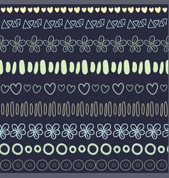 Textile seamless pattern on dark background vector