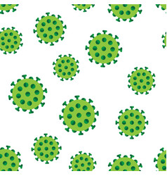 bacteria virus in green colors seamless pattern vector image