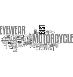 best find motorcycle eyewear text word cloud vector image vector image