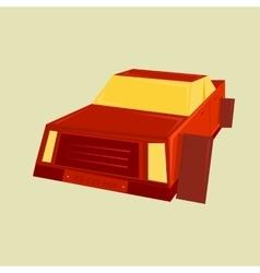 Geometric minimal of a car vector image vector image