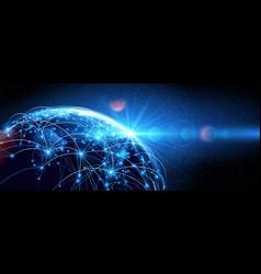 global network world vector image vector image