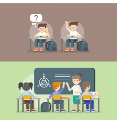 kids at school Back to school concept vector image