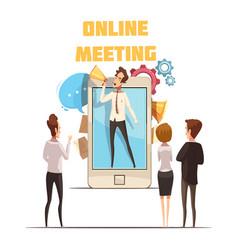 Online meeting concept vector