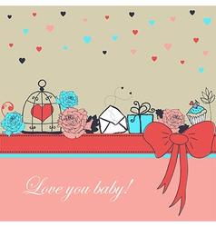 Valentines elements vector image