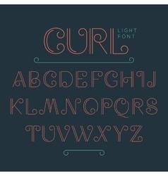 Vintage abc alphabet font vector image vector image