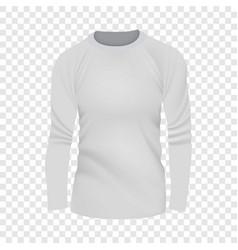 white tshirt long sleeve mockup realistic style vector image vector image