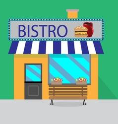 Building bistro cartoon style vector image