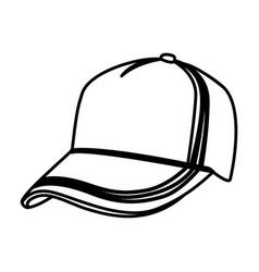figure hat cloth icon vector image