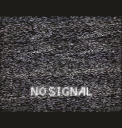 no signal in analog tv vector image