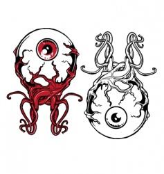 punk eyeball vector image