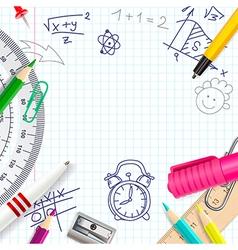School creative background vector