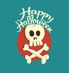 Skull and bones Halloween vector image vector image