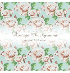 Vintage watercolor background with flowers vector