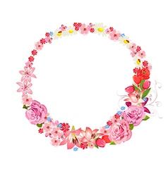 wreath of flowers vector image vector image