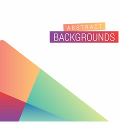 Abstract background design with creative style vector