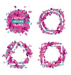 Abstract frames set vector image