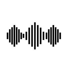 Amplitude sound waves icon vector