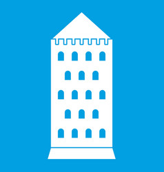 Ancient building icon white vector