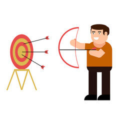 archery icon vector image