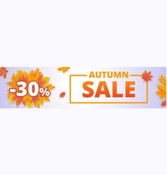 Autumn fall sale banner horizontal cartoon style vector