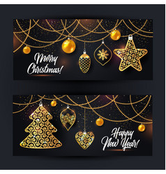 banners of christmas vector image