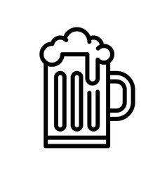beer mug feast of saint patrick line icon vector image