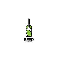 Beer nature drink logo design vector