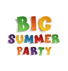 Big summer party poster template on white vector