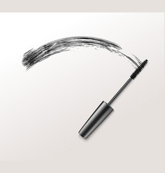 Black realistic mascara brush strokes vector