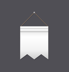 blank pennant with cut end vector image