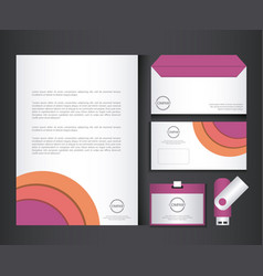 branding identity corporate company design vector image