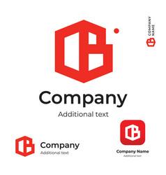 Business building construction modern logo vector