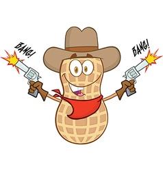 Cartoon peanut vector