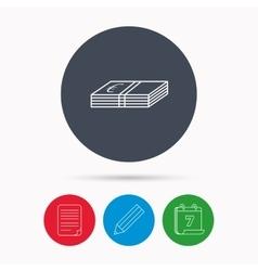 Cash icon Euro money sign vector image