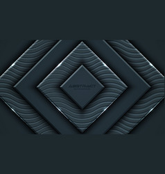 Charcoal gray background with 3d style rectangle vector