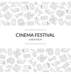 cinema festival banner template with place vector image