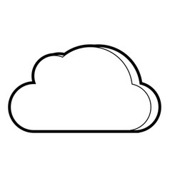 cloud cartoon padlock vector image