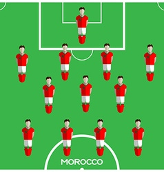 Computer game Morocco Football club player vector