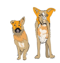 Couple of Dogs vector