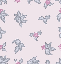 Cute flower vintage seamless background vector image