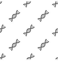 dna chainmedicine single icon in black style vector image