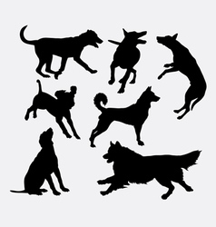 Dog pet animal silhouette 19 vector image