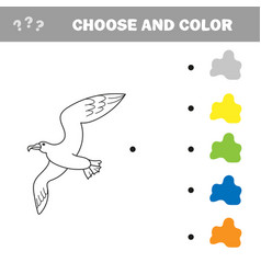 educational game coloring book seagull bird vector image