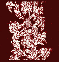 exotic garden hand drawn floral pattern vintage vector image