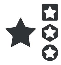 Favorite icon set monochrome vector