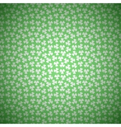 Green Floral Background with White Seamless vector