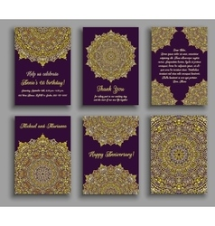 Greeting Cards Golden Luxury vector image