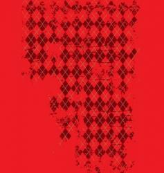 grunge argyle vector image vector image