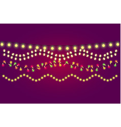 Holidays christmas and new year lights collection vector